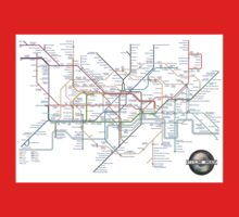 Tube Map as Film Genres Baby Tee