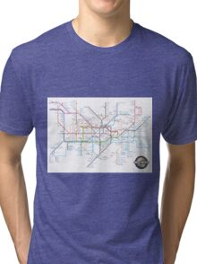 Tube Map as Film Genres Tri-blend T-Shirt