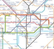 Tube Map as Film Genres Sticker