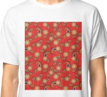 Seamless  Red Pattern Flower Classic T-Shirt