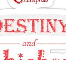 Camelot Enterprises / Destiny and Chicken Sticker