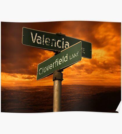 Valencia Ave & Cloverfield Lane Poster