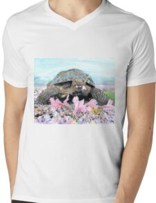 Roxy the Turtle Mens V-Neck T-Shirt