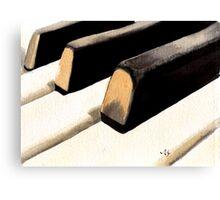 Piano Keyboard Canvas Print