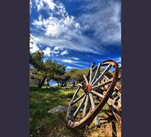 Wheel from an old broken wooden wagon Unisex T-Shirt