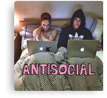 Joe and Caspar Antisocial Canvas Print