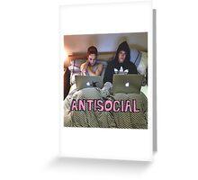 Joe and Caspar Antisocial Greeting Card