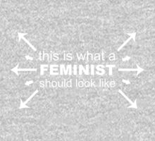 What A Feminist Looks Like Kids Tee