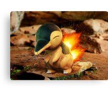 Realistic Pokemon: Cyndaquil Canvas Print
