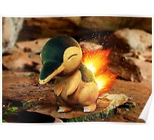 Realistic Pokemon: Cyndaquil Poster