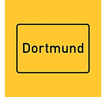 Dortmund, Road Sign, Germany Photographic Print