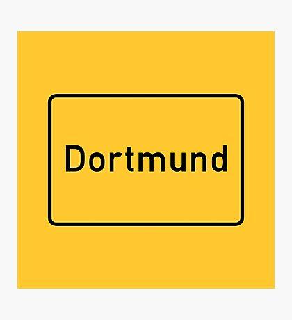 Dortmund, Road Sign, Germany Photographic Print