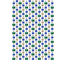 Precious Stones Mosaic 1 - Digital illustration of original hand rendered precious stones. White background. Photographic Print