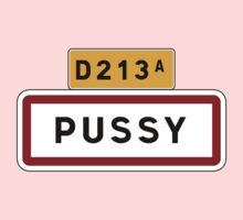 Pussy, Road Sign, France Kids Tee