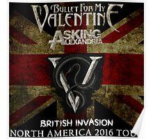 LOGO BULLET FIR MY VALENTINE BRITISH INVASION '16 AFTR Poster