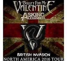 LOGO BULLET FIR MY VALENTINE BRITISH INVASION '16 AFTR Photographic Print