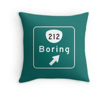 Boring Road Sign, Oregon Throw Pillow