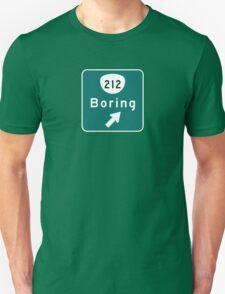 Boring Road Sign, Oregon T-Shirt