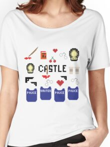 Castle in pixels Women's Relaxed Fit T-Shirt