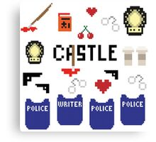 Castle in pixels Canvas Print
