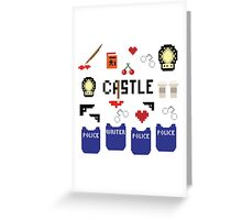Castle in pixels Greeting Card