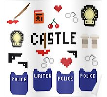 Castle in pixels Poster