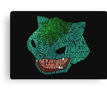 Pokemon - Venusaur - Typography  Canvas Print