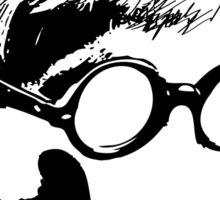 Hockney - vacant expression Sticker