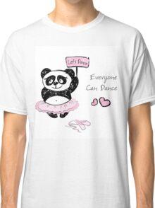 Panda Girl ballet dancer,hand drawn Classic T-Shirt