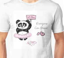 Panda Girl ballet dancer,hand drawn Unisex T-Shirt