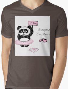 Panda Girl ballet dancer,hand drawn Mens V-Neck T-Shirt