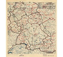 June 12 1945 World War II HQ Twelfth Army Group situation map Photographic Print