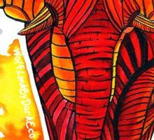 Patterned African Elephant Sticker