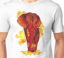 Patterned African Elephant Unisex T-Shirt
