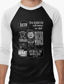 Ron Swanson Montage  Men's Baseball ¾ T-Shirt