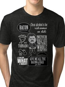 Ron Swanson Montage  Tri-blend T-Shirt
