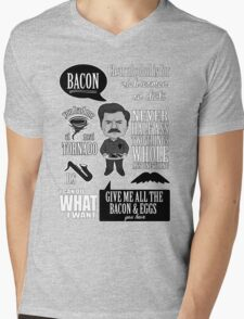 Ron Swanson Montage  Mens V-Neck T-Shirt