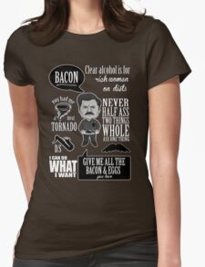 Ron Swanson Montage  Womens Fitted T-Shirt