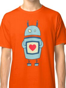 Cute Clumsy Robot With Heart Classic T-Shirt