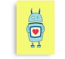 Cute Clumsy Robot With Heart Canvas Print