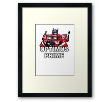 Transformers Optimus Prime MASTERPIECE Framed Print