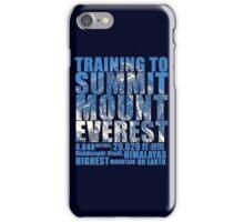 Training to Summit Mount Everest iPhone Case/Skin