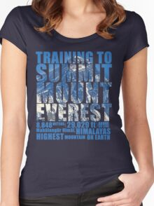 Training to Summit Mount Everest Women's Fitted Scoop T-Shirt
