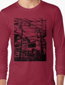 telephone poles 2 Long Sleeve T-Shirt