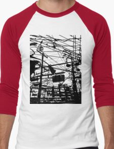 telephone poles 2 Men's Baseball ¾ T-Shirt