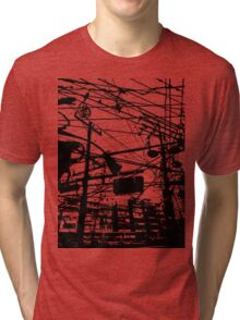telephone poles 2 Tri-blend T-Shirt