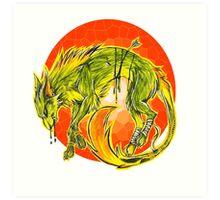 Tarot Wolf Art Print