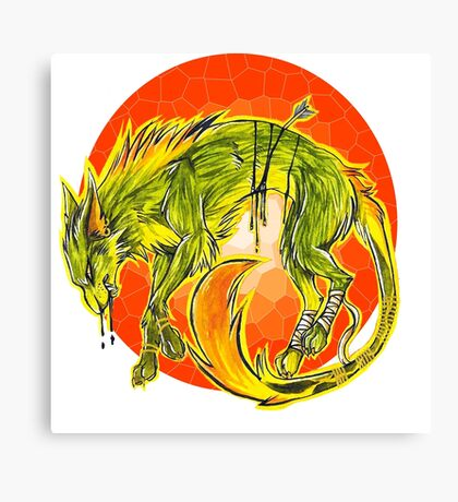 Tarot Wolf Canvas Print