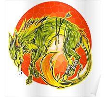 Tarot Wolf Poster
