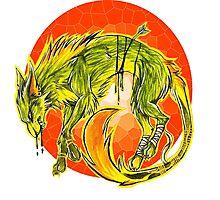 Tarot Wolf Photographic Print